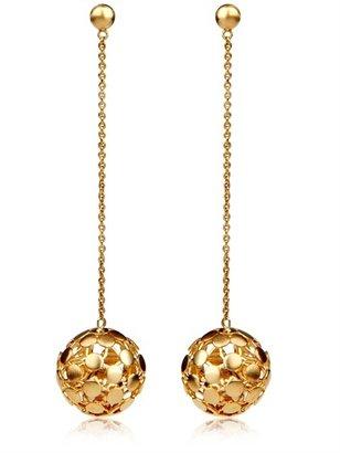 Perlota Gold Pendant Earrings