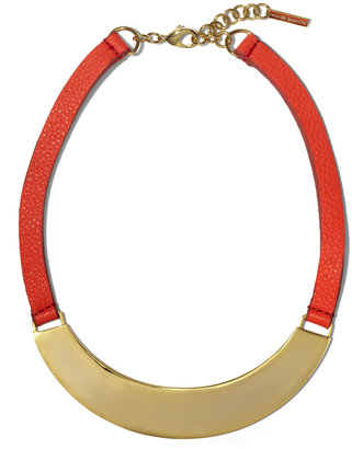 Vince Camuto Leather And Metal Necklace