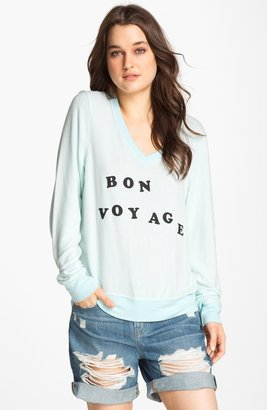 Wildfox Couture 'Bon Voyage' Graphic Sweatshirt (Nordstrom Exclusive)