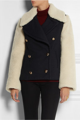 McQ by Alexander McQueen Twill and shearling coat