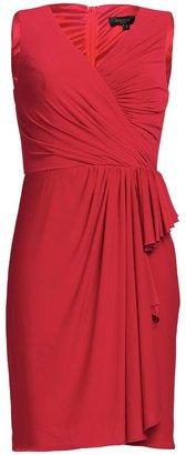 Aftershock Dumisani red draped jersey dress
