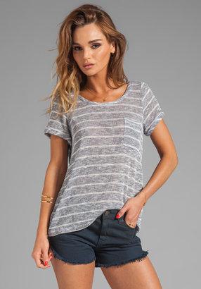 Splendid Caspian Striped Short Sleeve Top
