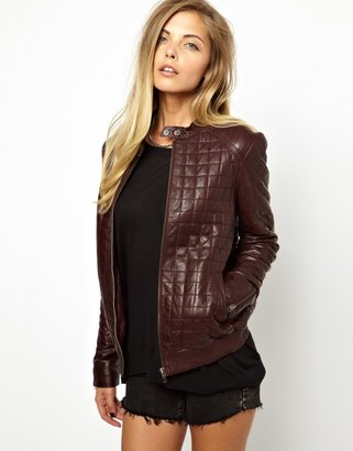 Asos Quilted Leather Jacket