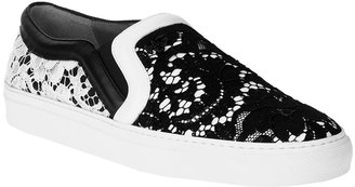 Givenchy Lace-covered leather sneakers