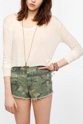 Urban Outfitters Reformed By The Reformation Cropped Long-Sleeve Tee