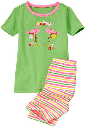 Gymboree Flamingo Friends Shortie Two-Piece Gymmies®