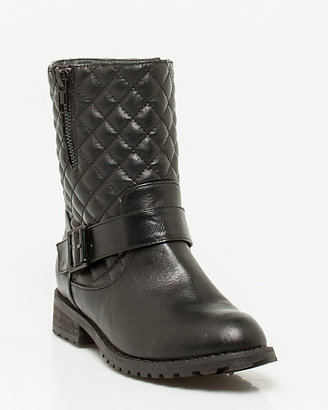 Le Château Quilted Faux Leather Ankle Bootie