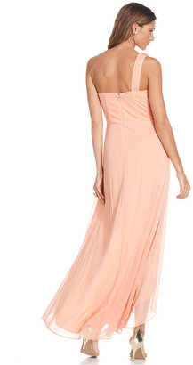 Xscape Evenings Dress, One-Shoulder High-Low Gown