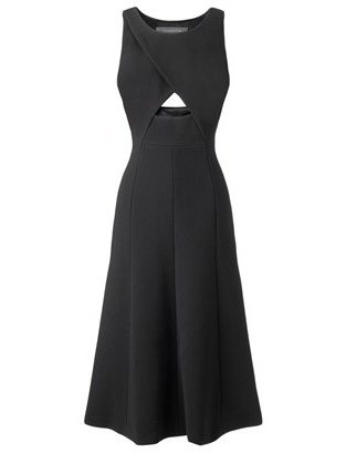 Thakoon Black Cut Out Midi Dress
