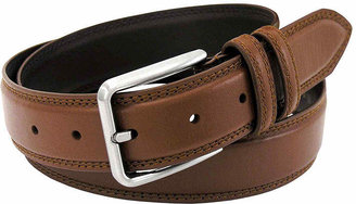 Stacy Adams 35MM Leather Belt with Double Keeper