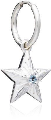 Rachel Jackson London Lucky November Citrine Birthstar Huggie Hoop Single Silver