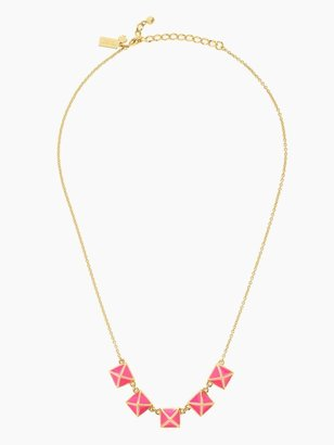 Kate Spade Locked in row necklace