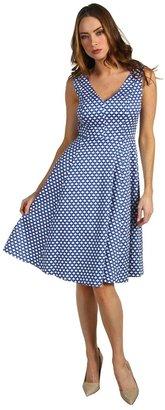 Kate Spade Kelley Dress in Polka Dot (Royal Blue Benay Dot) - Apparel