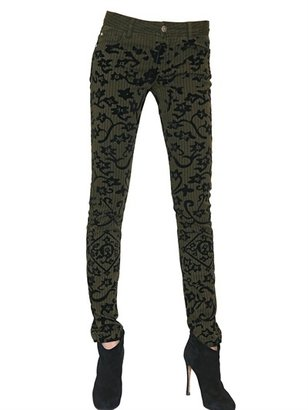 Faith Connexion Flocked Pattern Skinny Denim Jeans