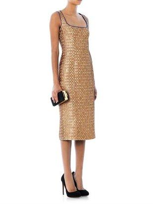 L'Wren Scott Snake-jacquard sleeveless dress