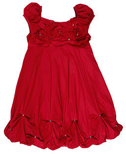 Biscotti Unforgetable Bubble Dress (Little Kids) (Red)