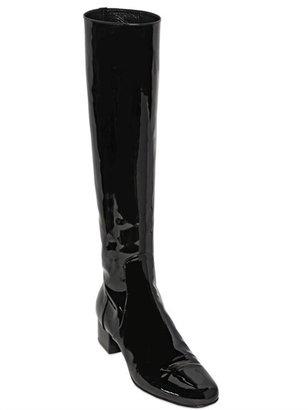 Saint Laurent 40mm Babies Patent Leather Boots