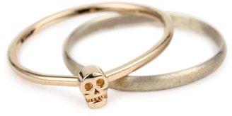 "Bing Bang Memento Mori"" Tiny Skull Ring Set"