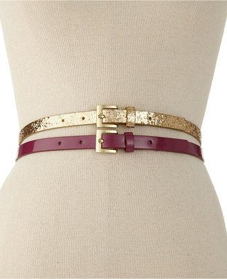 Style&Co. 2 for 1 Glitter Belt