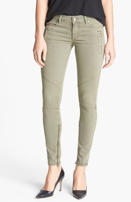 Paige 'Marley' Seam Detail Skinny Jeans (Fatigue Green)