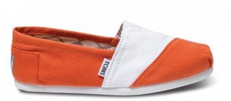 Toms White and orange women's classics