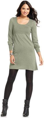 Spense Petite Dress, Long-Sleeve Ribbed Sweater