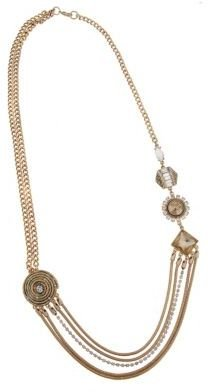 Erickson Beamon ROCKS Gold-Tone Chain Necklace with Assorted Pendants