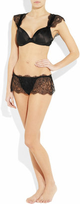 Rigby & Peller Satin and lace underwired bra