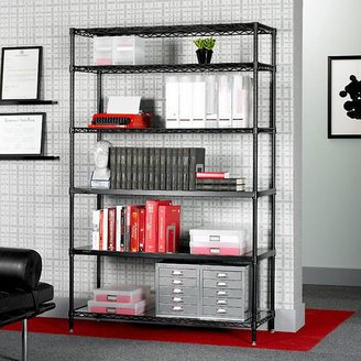 Container Store Office Shelves Black