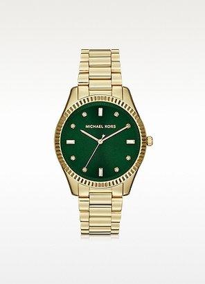 Michael Kors Mid-Size Golden Stainless Steel Blake Three-Hand Glitz Watch