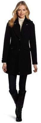 Kenneth Cole New York Women's Melton Three-Quarter Coat