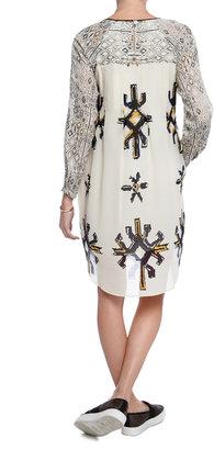 Sea NEW YORK Pintucked Printed Dress