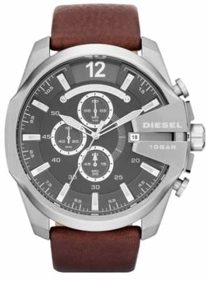 Diesel R) 'Mega Chief' Leather Strap Watch, 51mm