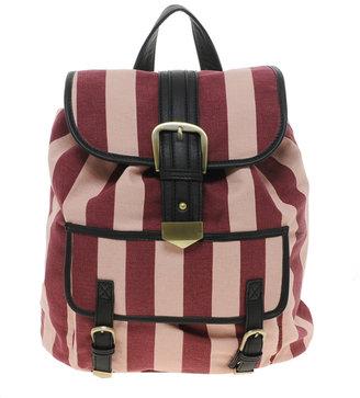 Asos Backpack Bag In Mono Stripe