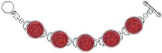 Classic Hardware Rose 5 Link Bracelet Red