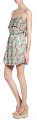 MANGO Outlet Ruffle Floral Dress