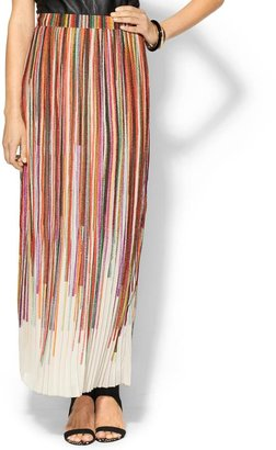 Juicy Couture Sabine Pleated Chiffon Maxi Skirt