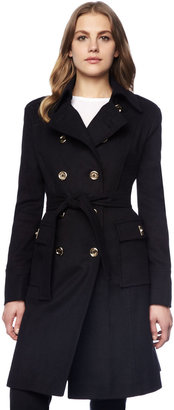 Michael Kors Beverly Double-Breasted Belted Coat
