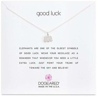 """Dogeared Sterling Silver Good Luck Elephant Necklace, 16"""" $48 thestylecure.com"""