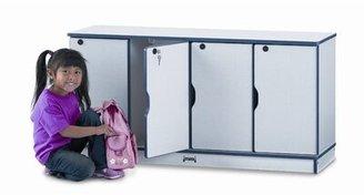 Jonti-Craft Rainbow Accents® 2 Tier 4 Wide School Locker Jonti-Craft