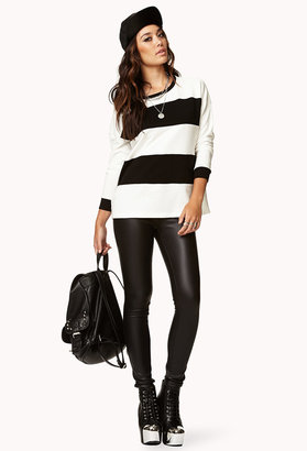 Forever 21 Colorblocked Striped Sweatshirt