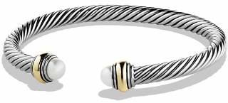 David Yurman Cable Classics Bracelet with Pearl and Gold