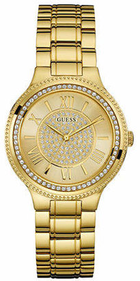 GUESS Crystal Face Dress Watch