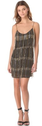 Sheri Bodell Chain Fringe Slip Dress