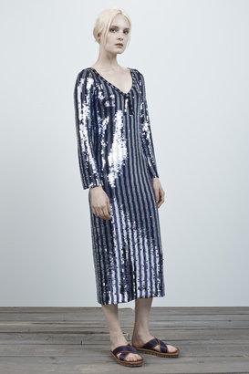 Marc Jacobs Stripe Sequin Dress