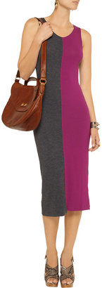 LnA Two-tone knitted dress