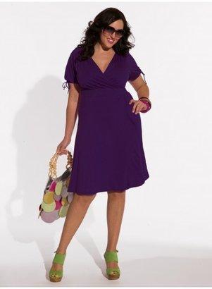 IGIGI Angie Plus Size Dress in Mulberry Purple