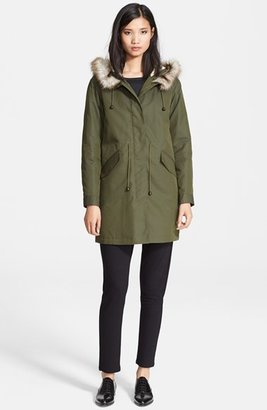 A.P.C. Faux Fur Trim Parka