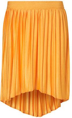 Topshop Tangerine Dip Back Skirt