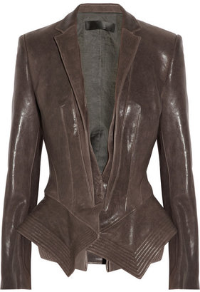 Haider Ackermann Leather peplum jacket